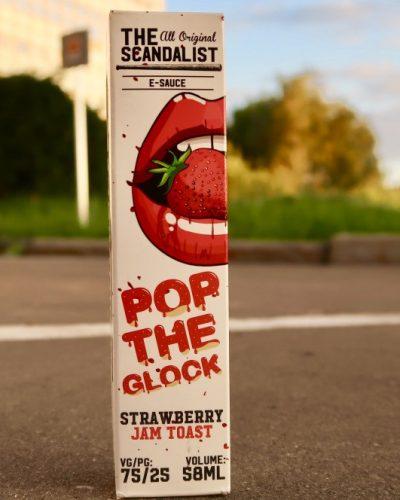 Жидкость The Scandalist Pop the Glock Strawberry Jam Toast