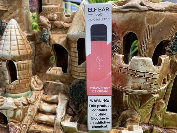 Одноразовый вейп одноразка Elf Bar 800 Strawberry Ice Cream вкусипар.рф