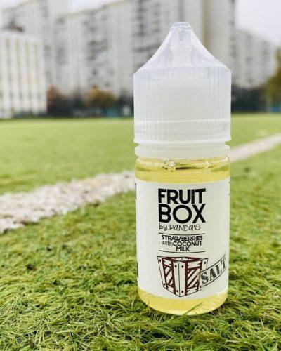 Жидкость Fruit Box Salt Strawberry with Coconut Milk вкусипар.рф