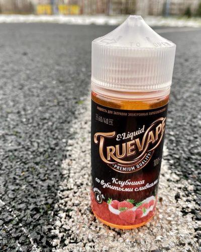 Жидкость True Vape Клубника с взбитыми сливками вкусипар.рф