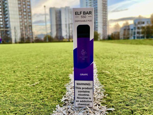 Одноразка Elf Bar Grape эльф бар вкусипар.рф