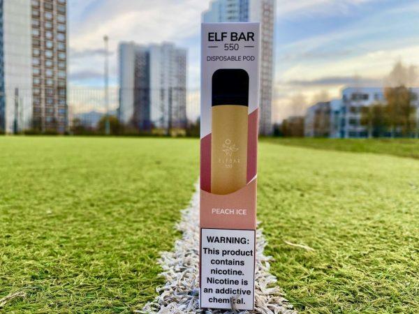 Одноразка Elf Bar Peach Ice эльф бар вкусипар.рф