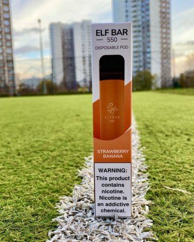 Одноразка Elf Bar Strawberry Banana эльф бар вкусипар.рф