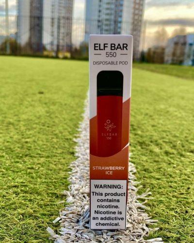 Одноразка Elf Bar Strawberry Ice эльф бар вкусипар.рф