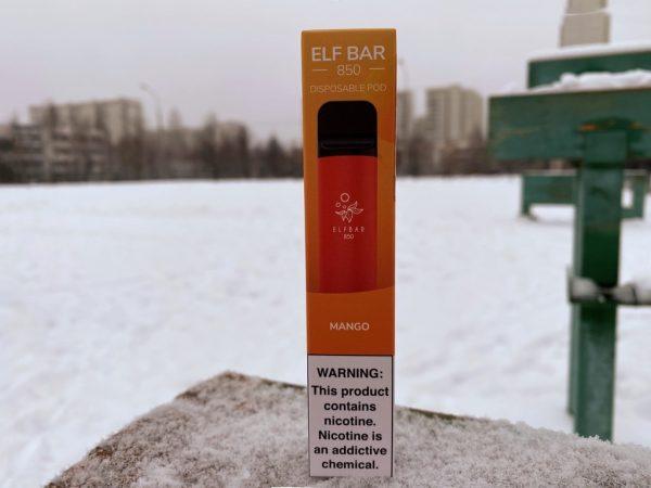 Одноразовый вейп Elf Bar на 1500 850 mah затяжек Mango вкусипар.рф