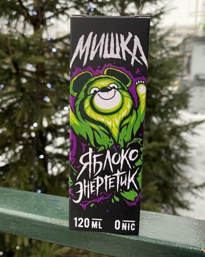 Жидкость Мишка Яблоко Энергетик вкусипар.рф