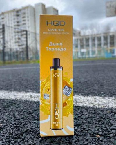 Одноразовая электронная сигарета HQD Cuvie Plus Дыня Теорпедо вкусипар.рф