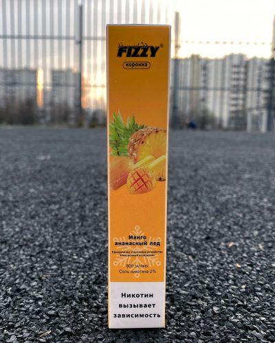 Одноразовые электронная сигарета Fizzy коронка Манго ананасовый лед вкусипар.рф
