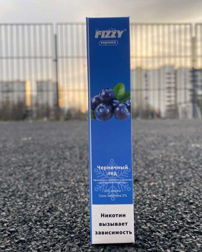 Одноразовые электронная сигарета Fizzy коронка Черничный лед вкусипар.рф