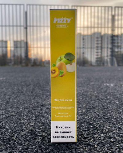 Одноразовые электронная сигарета Fizzy коронка Яблоко киви вкусипар.рф