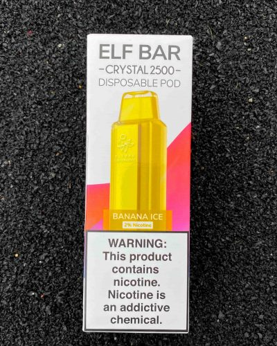 Одноразовый вейп Elf Bar Crystal 2500 Banana Ice вкусипар.рф