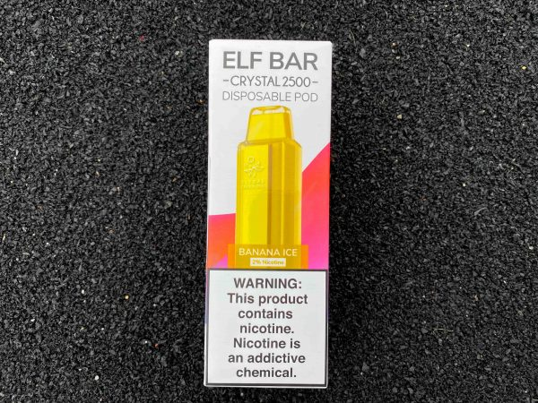 Одноразовый вейп Elf Bar Crystal 2500 Banana Ice вкусипар.рф