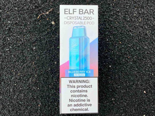 Одноразовый вейп Elf Bar Crystal 2500 Blueberry Ice вкусипар.рф