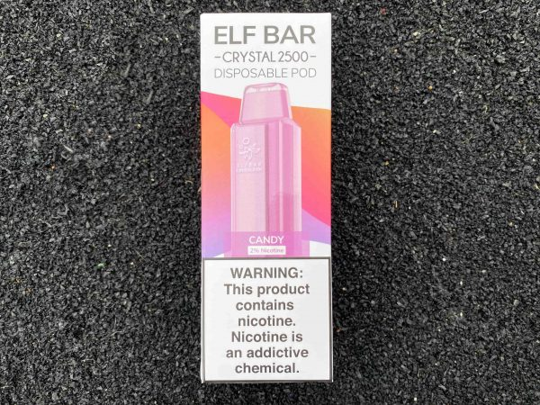 Одноразовый вейп Elf Bar Crystal 2500 Candy вкусипар.рф