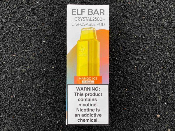 Одноразовый вейп Elf Bar Crystal 2500 Mango Ice вкусипар.рф