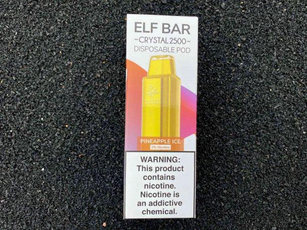 Одноразовый вейп Elf Bar Crystal 2500 Pineapple Ice вкусипар.рф