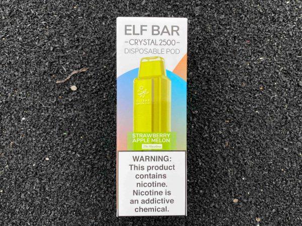 Одноразовый вейп Elf Bar Crystal 2500 Strawberry Apple Melon вкусипар.рф